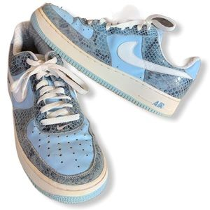 Nike Air Baby blue snakeskin